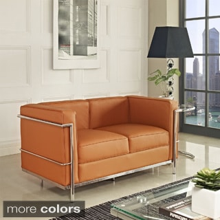 Charlie Petite Leather Loveseat