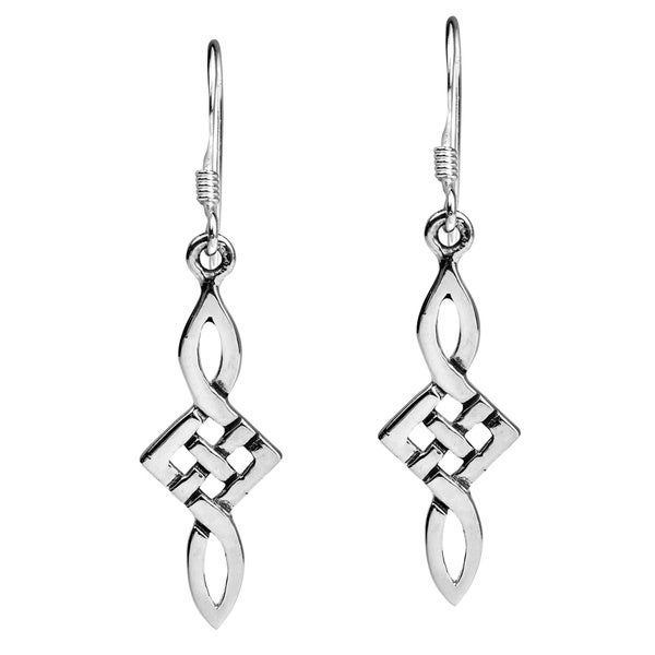 Timeless Spirit Celtic Knot Sterling Silver Dangle Earrings (Thailand)