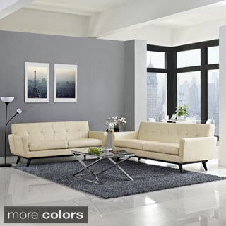 Midway Absorb 2-piece Leather Living Room Set