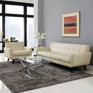 Absorb 2-piece Leather Armchair/ Sofa Living Room Set