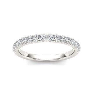 De Couer 14k White Gold 3/8ct TDW Diamond Wedding Band (H-I, I2)