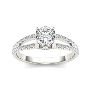 De Couer 14k White Gold 1 1/4ct TDW Diamond Split-Shank Engagement Ring (H-I, I2)