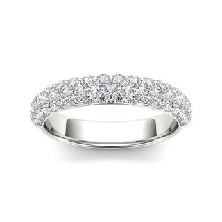 De Couer 14k White Gold 1 1/4ct TDW Diamond Wedding Band (H-I, I2)