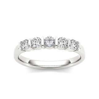 De Couer 14k White Gold 1/2ct TDW Diamond Wedding Band (H-I, I2)