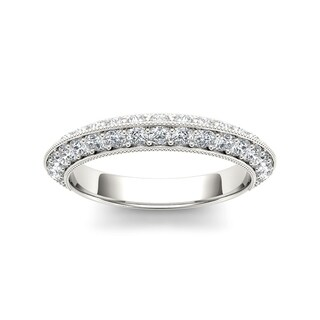 De Couer 14k White Gold 1ct TDW Diamond Wedding Band (H-I, I2)