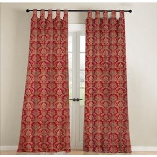 Jennifer Taylor Red Silk Curtain Single Panel