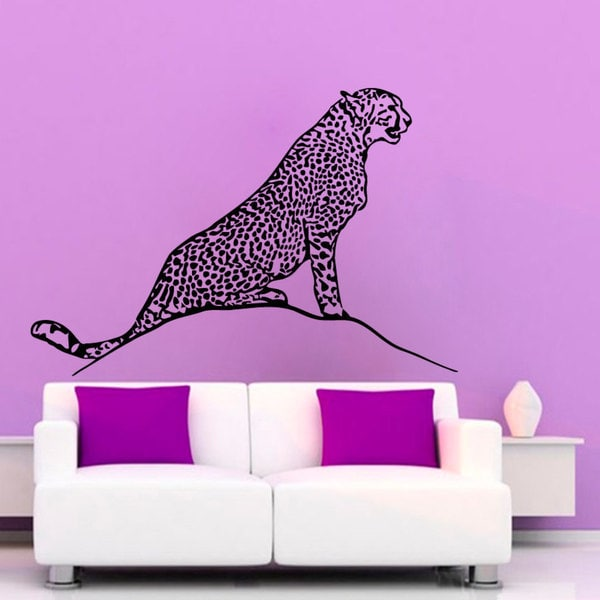 Black Cheetah Vinyl Sticker Wall Art