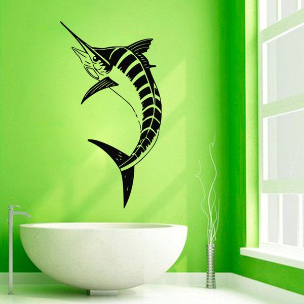 Black Sword Fish Vinyl Sticker Wall Art