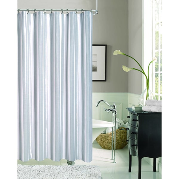 Dainty Home Carlton Fabric Shower Curtain Gray Silver And