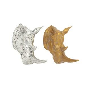 Excellent Rhino Head (Set of 2)
