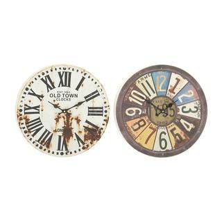 Prepossessing Metal Wall Clock (Set of 2)