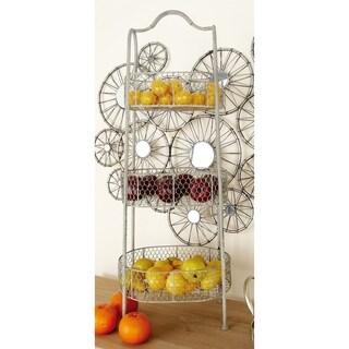 Elegant and Stable Metal 3-tier Basket