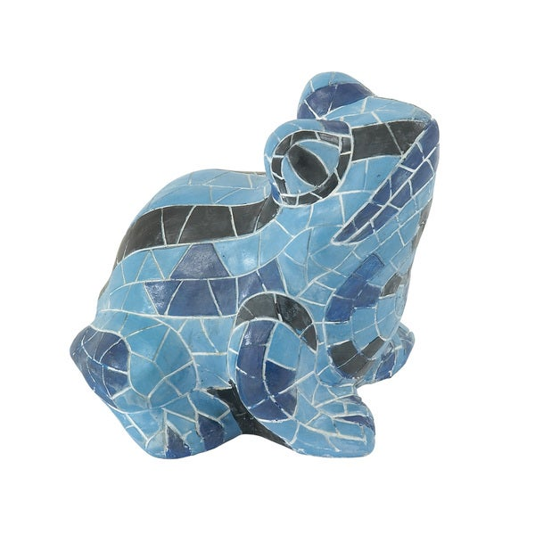 Striking Blue Frog