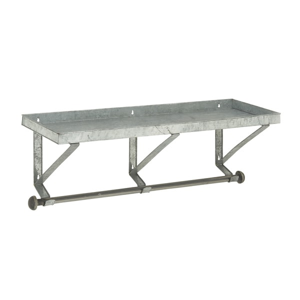Robust Metal Wall Shelf with Rod