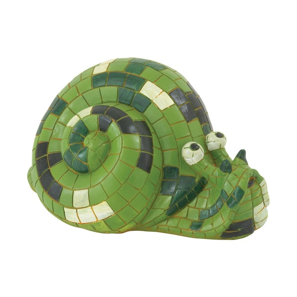Artistically Styled Green Snail Decor