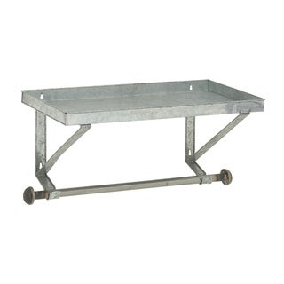 Well-built Metal Wall Shelf with Rod