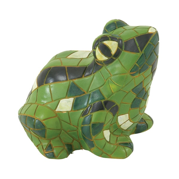 Glowing and Eye-catching Green Frog Figurine