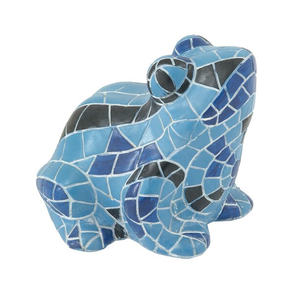 Vivid and Attractive Blue Frog Figurine