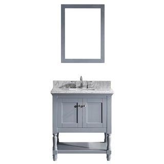 Virtu USA Julianna 32-inch Single Bathroom Vanity Cabinet Set in Grey