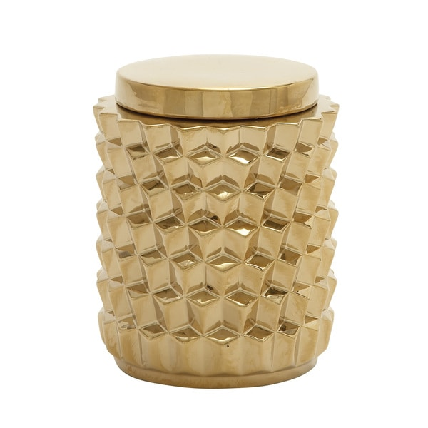 Timeless Ceramic Gold Jar