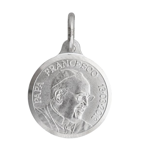 Sterling Silver Pope Francis Necklace
