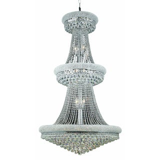 Elegant Lighting Chrome Royal-cut Crystal Clear Large 36-inch Hanging Chandelier