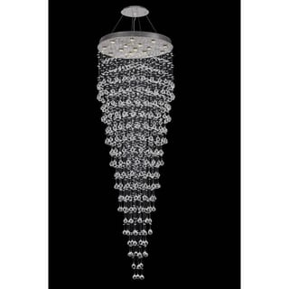 Elegant Lighting Chrome Royal-cut Crystal Clear 32-inch Large Hanging 16-light Chandelier