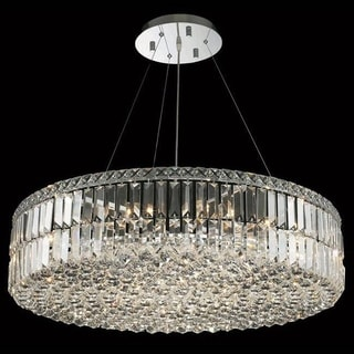 Somette Chrome Royal-cut 32-inch Crystal Clear Hanging 18-light Chandelier