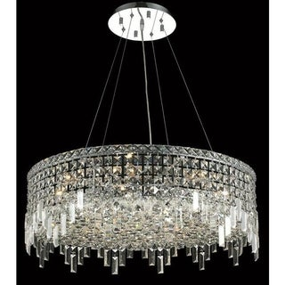 Elegant Lighting Chrome Royal-cut Crystal Clear 28-inch Hanging 12-light Chandelier