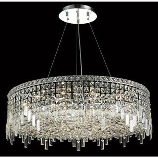 Elegant Lighting Chrome 32-inch Royal-cut Crystal Clear Hanging 18-light Chandelier