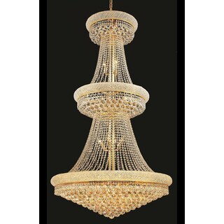 Elegant Lighting Gold Royal-cut Crystal Clear 36-inch Large Hanging Chandelier