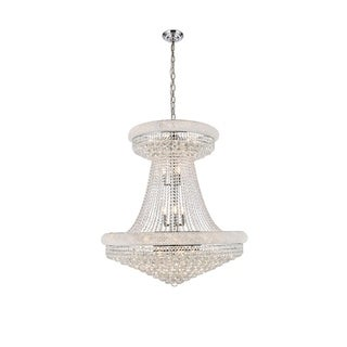 Elegant Lighting Chrome Royal-cut Crystal Clear Large Hanging 36-inch Chandelier
