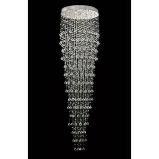 Elegant Lighting Chrome 32-inch Royal-cut Crystal Clear Large Hanging 16-light Chandelier