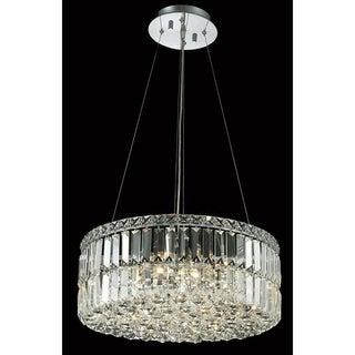 Elegant Lighting Chrome Royal-cut Crystal Clear Hanging 12-light Chandelier