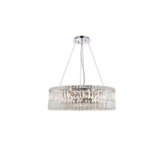 Elegant Lighting Chrome Royal-cut Crystal Clear 12-light Hanging Chandelier