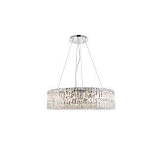 Elegant Lighting Chrome Royal-cut 28-inch Crystal Clear Hanging 12-light Chandelier