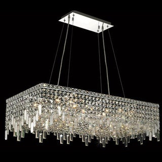 Elegant Lighting Chrome 36-inch Royal-cut Crystal Clear Hanging 16-light Chandelier