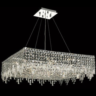 Elegant Lighting Chrome 32-inch Royal-cut Crystal Clear Hanging 12-light Chandelier