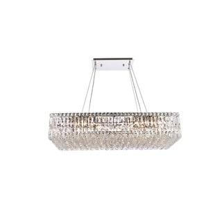 Elegant Lighting Chrome Royal-cut 36-inch Crystal Clear Hanging 16-light Chandelier