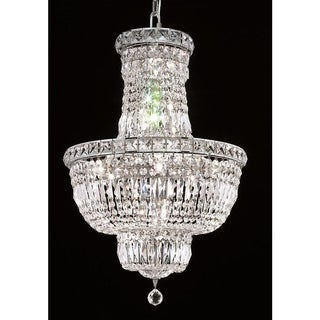 Elegant Lighting Chrome 18-inch Royal-cut Crystal Clear Hanging 12-light Chandelier