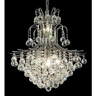 Elegant Lighting Chrome Royal-cut Crystal Clear 22-inch Hanging 11-light Chandelier