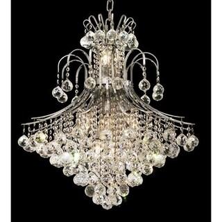 Elegant Lighting Chrome 25-inch Royal-cut Crystal Clear Hanging 15-light Chandelier