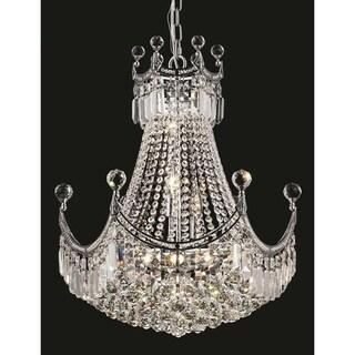 Elegant Lighting Chrome 20-inch Royal-cut Crystal Clear Hanging 9-light Chandelier