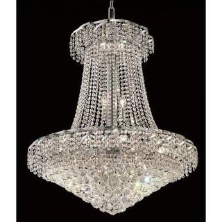 Elegant Lighting Chrome 30-inch Royal-cut Crystal Clear Hanging 18-light Chandelier