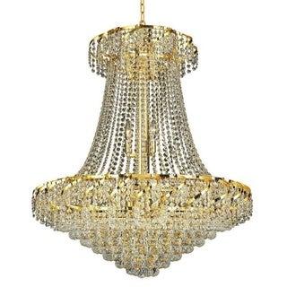 Elegant Lighting Gold 30-inch Royal-cut Crystal Clear Hanging 18-light Chandelier