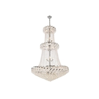 Elegant Lighting Chrome 42-inch Royal-cut Crystal Clear Large Hanging Chandelier
