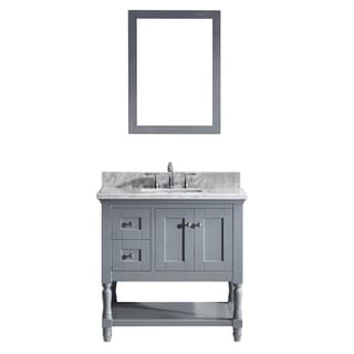 Julianna 36-inch Single Bathroom Vanity Cabinet Set in Grey