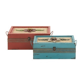 Chic Looking Metal Boxes (Set of 2)