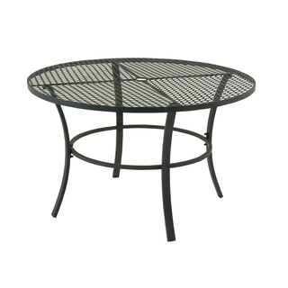 Striking Metal Round Outdoor Table