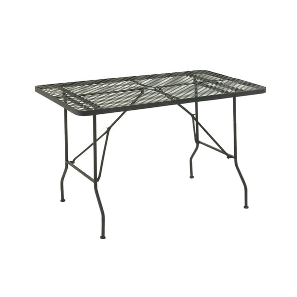 Gorgeous Metal Folding Outdoor Table - 17289227 - Overstock.com ...